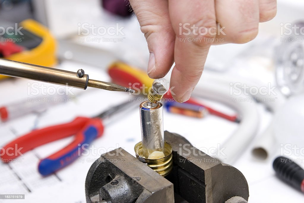 Soldered Bulb royalty-free stock photo