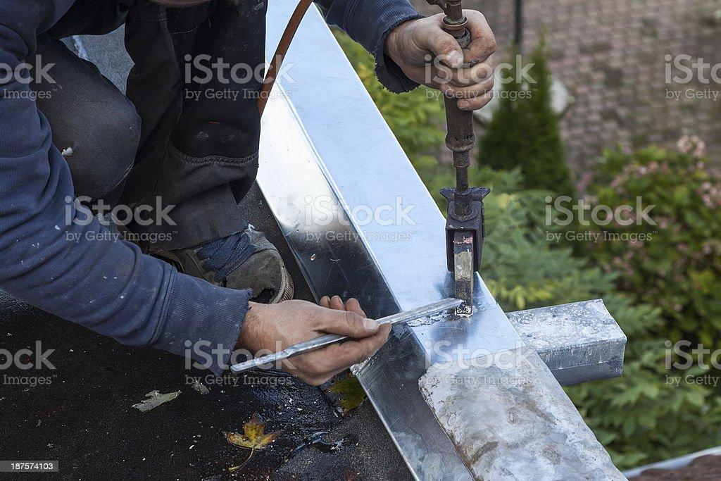 Soldering cornice stock photo