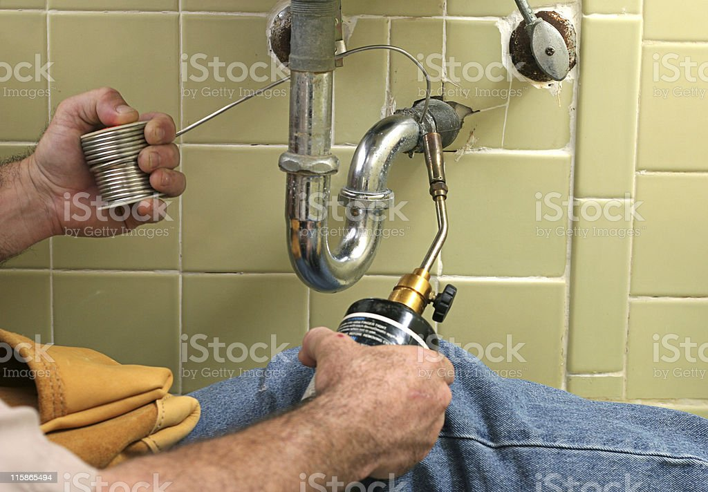 Soldering Pipe royalty-free stock photo