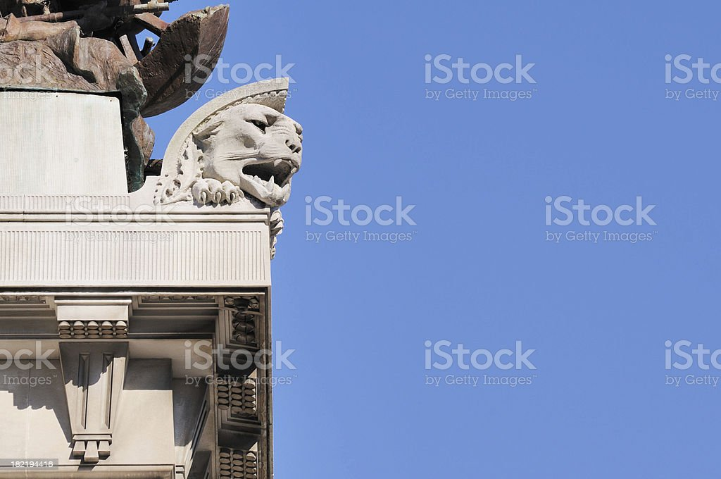 Soldier and Sailor Monument Circle Detail Indianapolis Indiana Copyspace stock photo