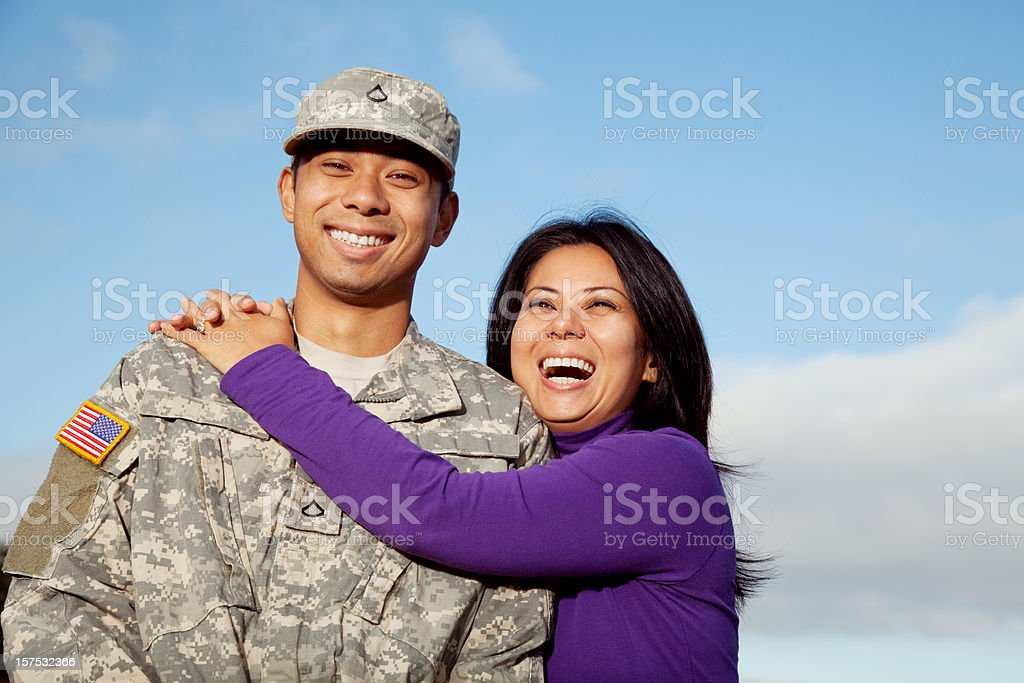 U S Soldier and Wife royalty-free stock photo