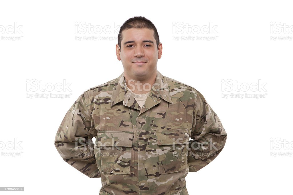 soldier at parade rest royalty-free stock photo