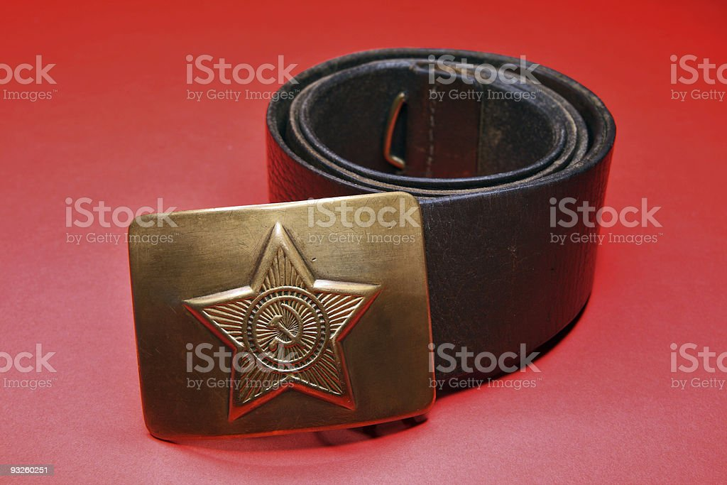 Soldier belt royalty-free stock photo