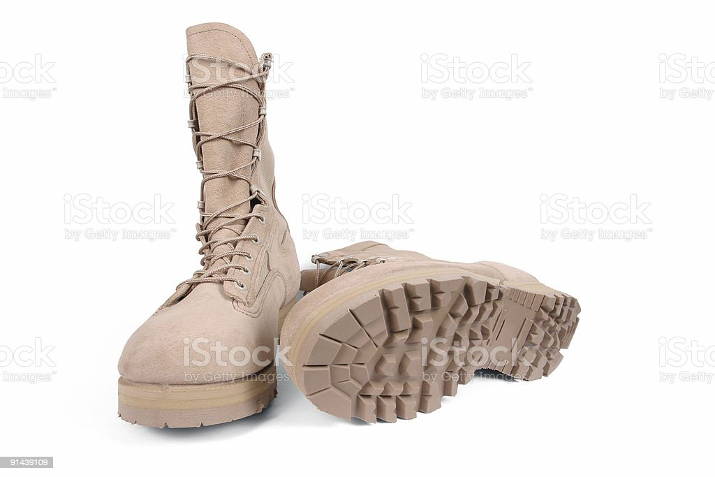 Soldier Boots royalty-free stock photo