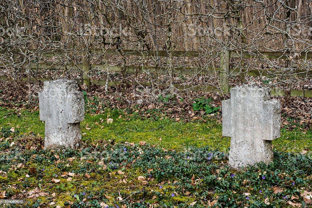 Soldier cemetery stock photo