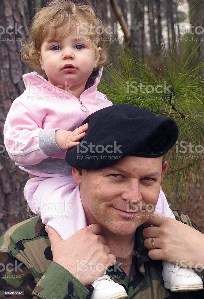 Soldier Dad royalty-free stock photo