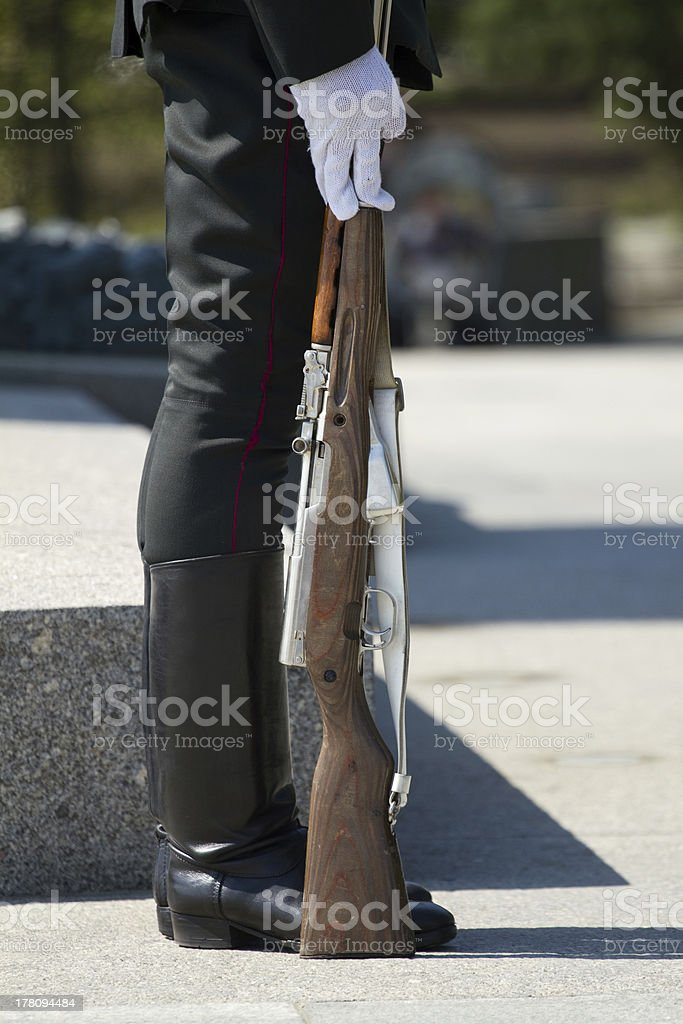 Soldier details royalty-free stock photo