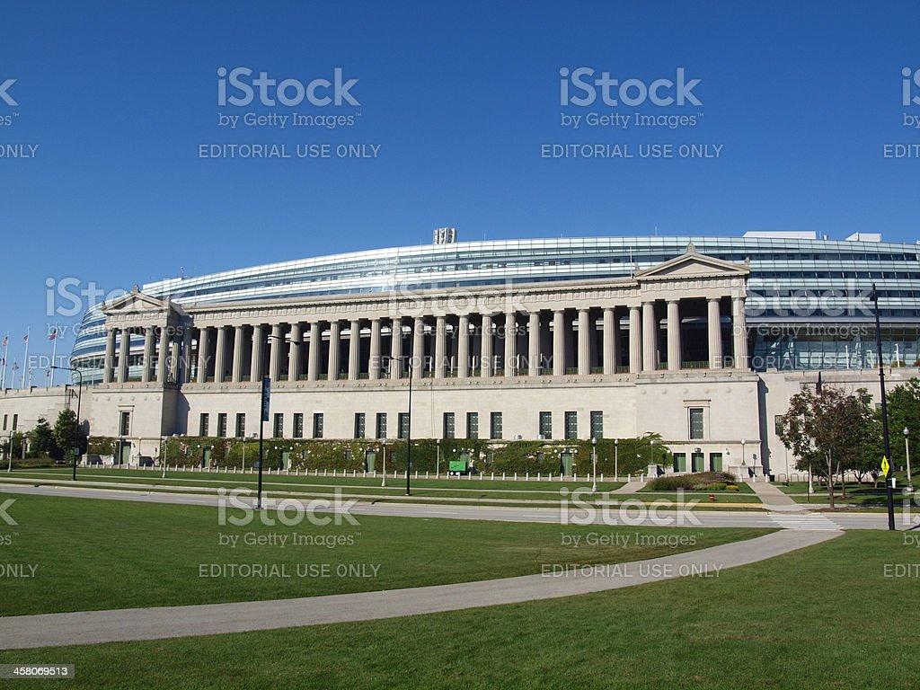 Soldier Field Football Stadium stock photo