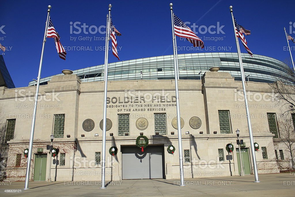 Soldier Field in Chicago, Illinois stock photo