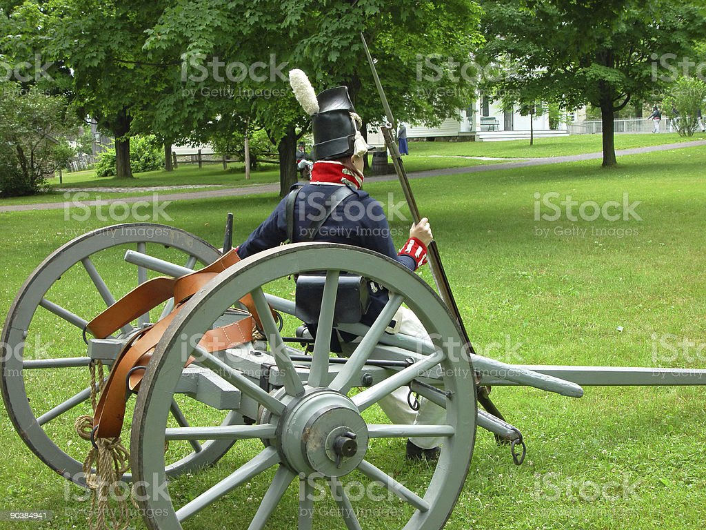 Soldier from War of 1812 royalty-free stock photo