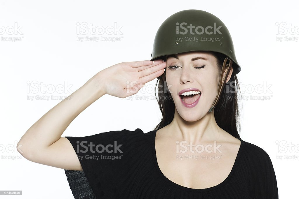 soldier girl royalty-free stock photo