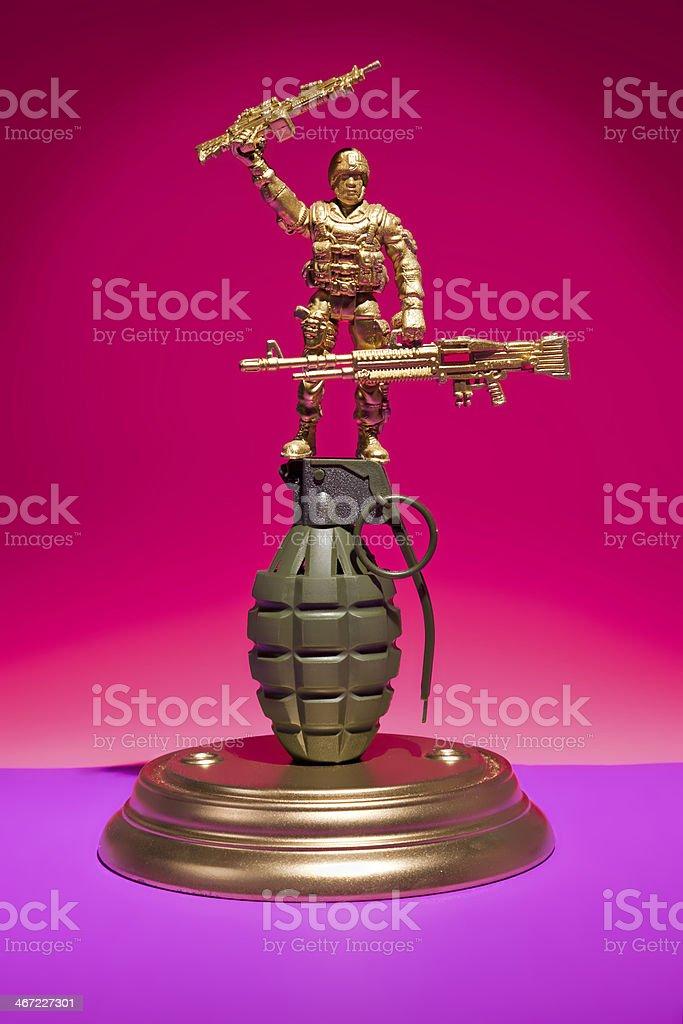 Soldier Grenade Display royalty-free stock photo