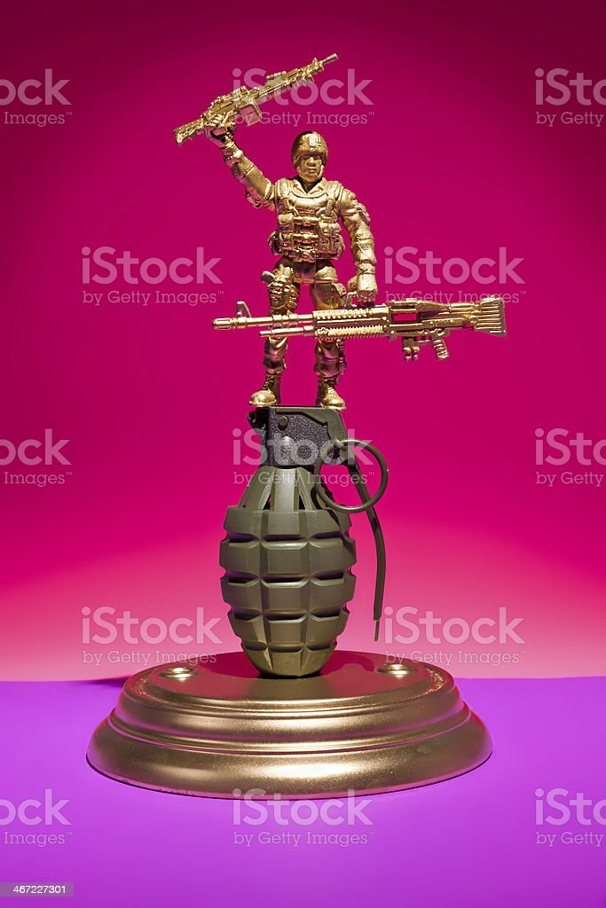 Soldier Grenade Display stock photo