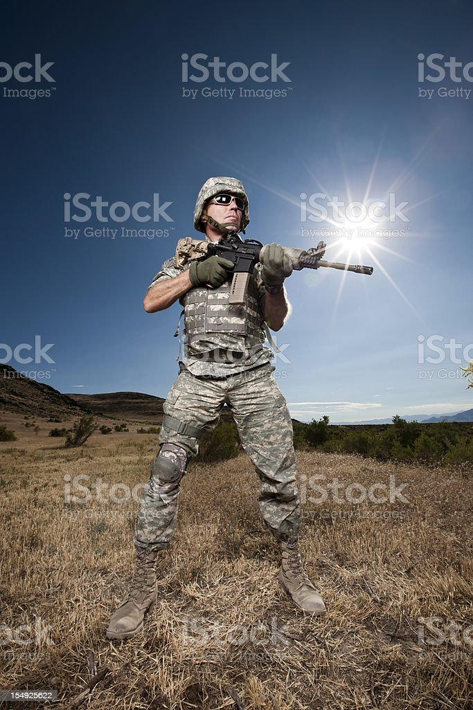 Soldier Hero royalty-free stock photo
