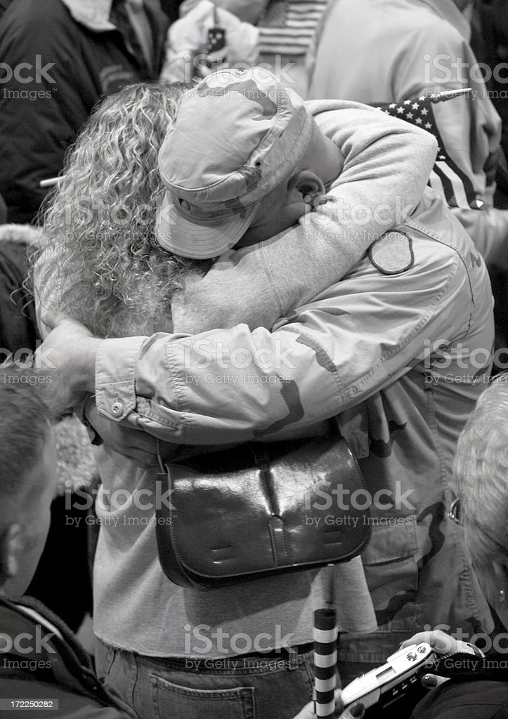 Soldier Homecoming royalty-free stock photo