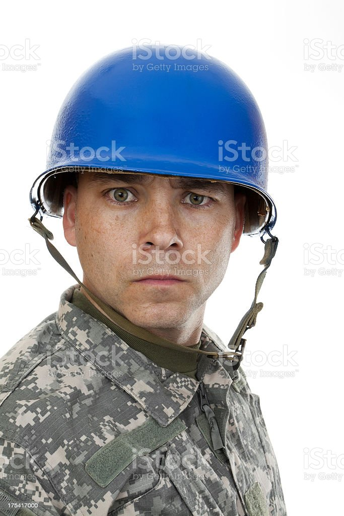 Soldier in Helmet royalty-free stock photo