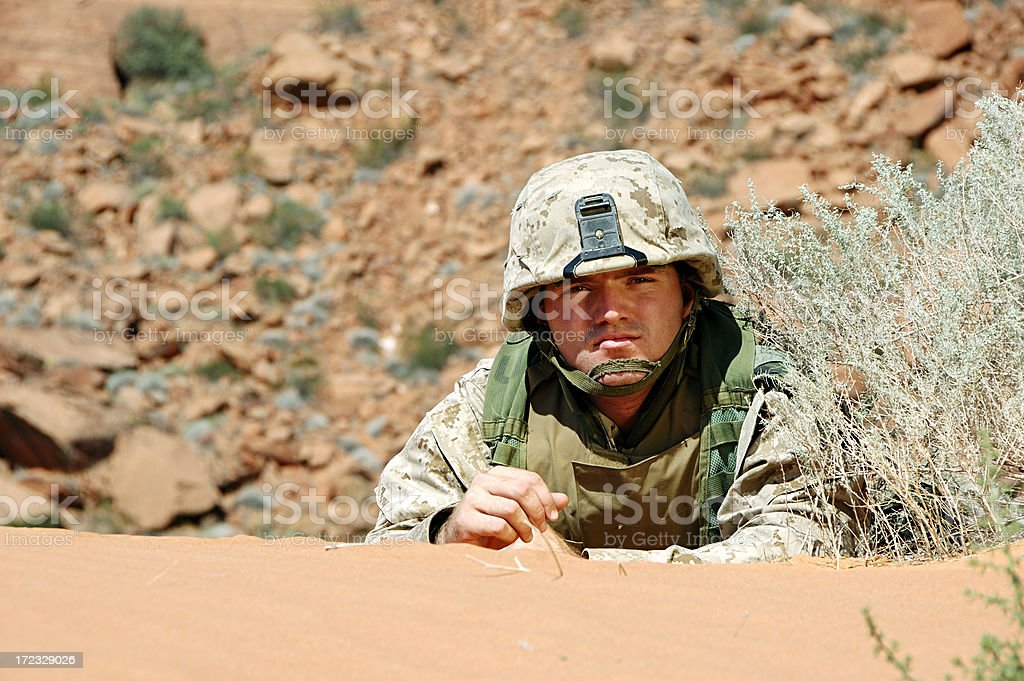 Soldier in the Sand royalty-free stock photo