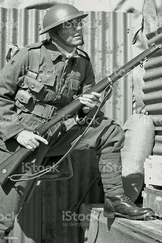 Soldier in the Trenches. royalty-free stock photo