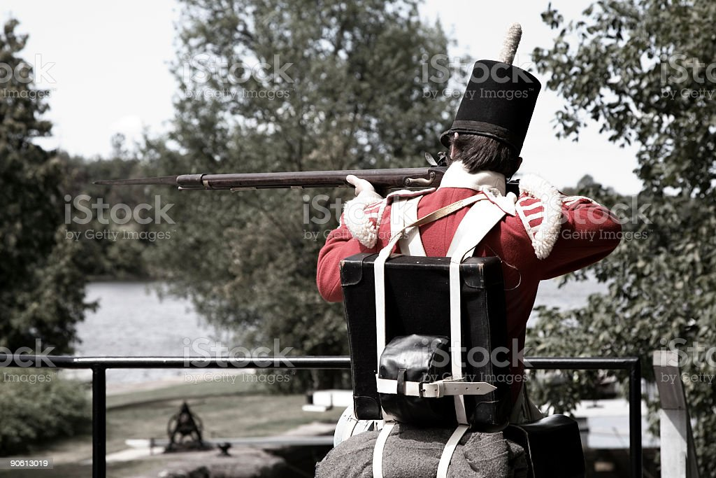 Soldier In Uniform royalty-free stock photo