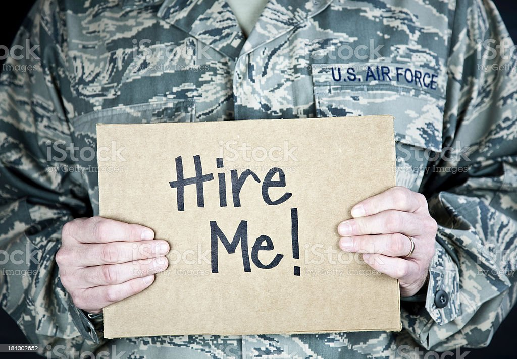 Soldier Looking for Work royalty-free stock photo