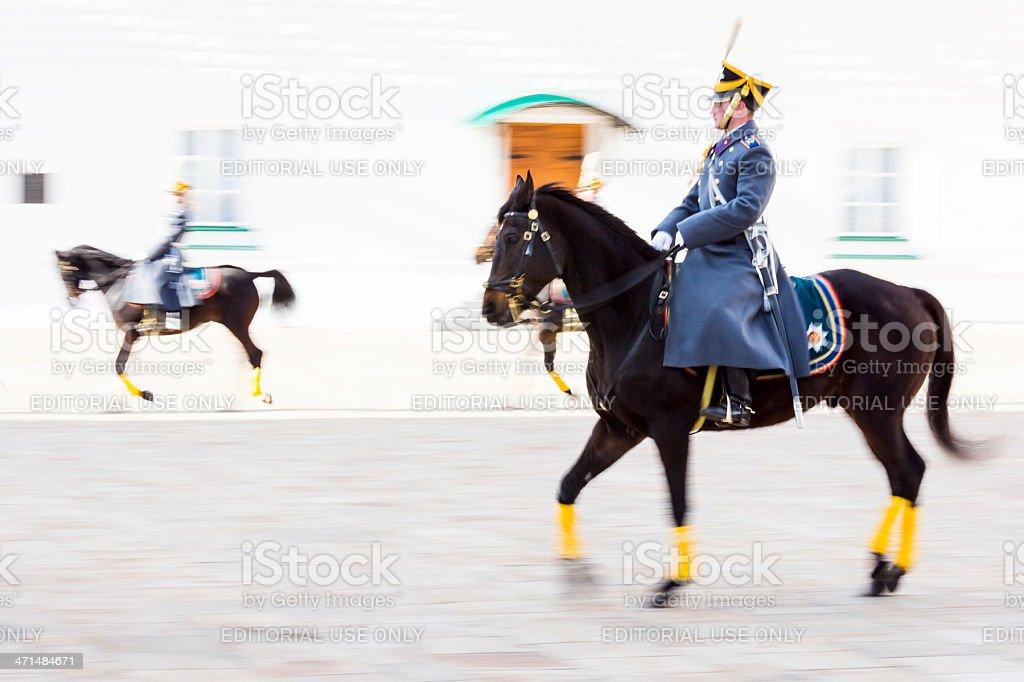 Soldier of Kremlin regiment on horseback royalty-free stock photo