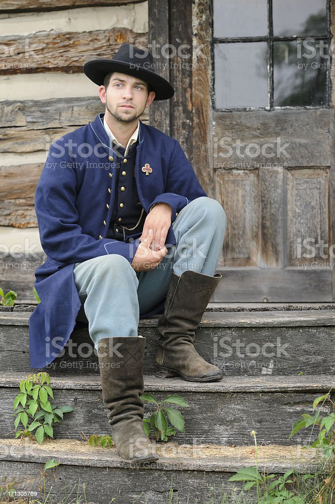 Soldier of the American Civil War, Union Infantry Private royalty-free stock photo