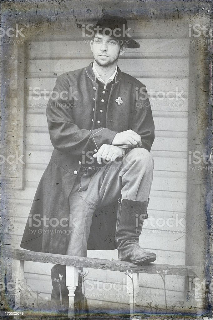 Soldier of the American Civil War, Union Infantry Private stock photo