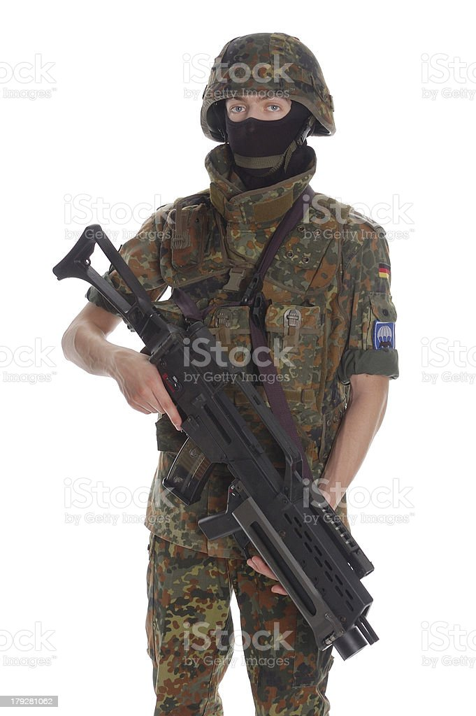 Soldier of the Bundeswehr. royalty-free stock photo