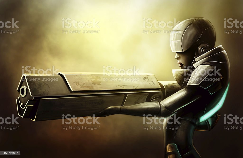 Soldier of the future royalty-free stock photo