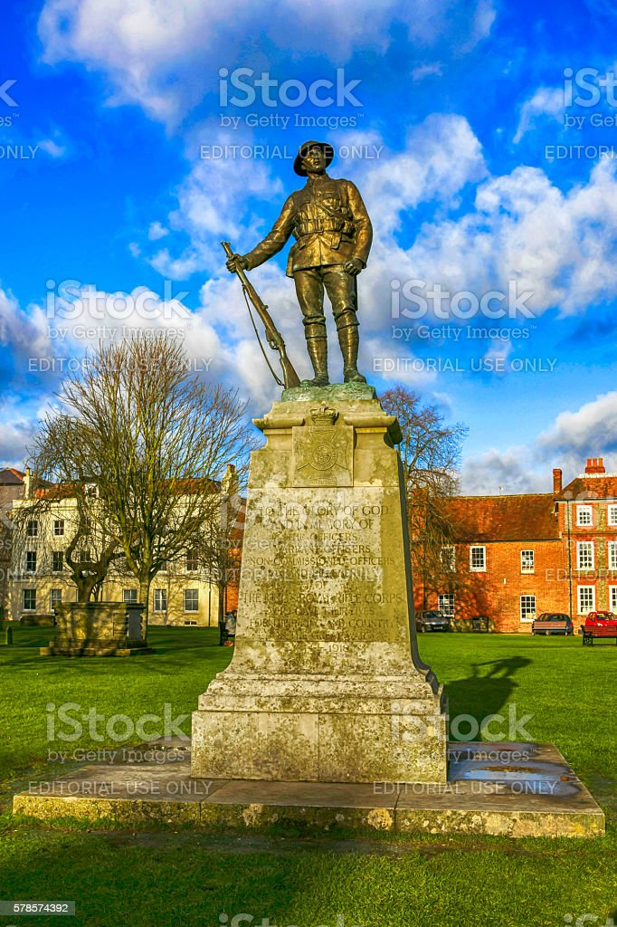 Soldier of the Great War Memorial in Winchester, UK stock photo
