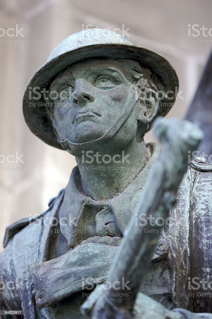 Soldier of the Great War stock photo