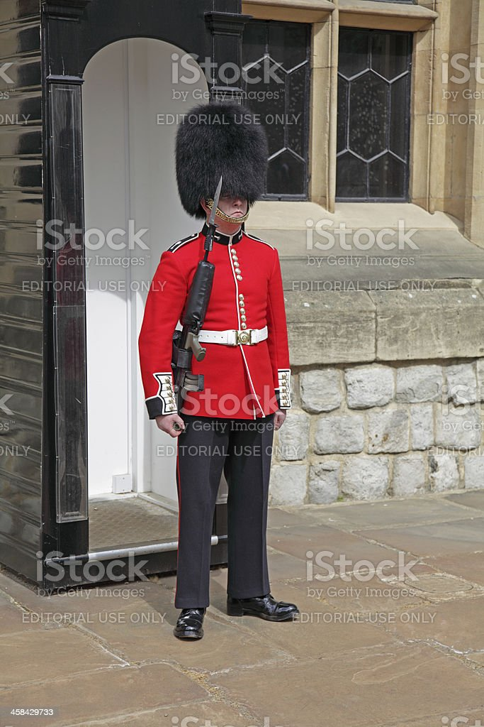 soldier on guard duty royalty-free stock photo