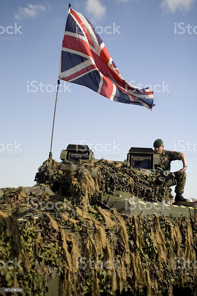 soldier on tank royalty-free stock photo