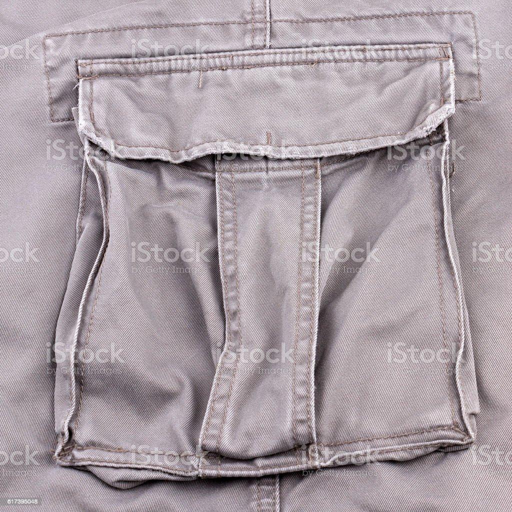 Soldier pants pocket stock photo