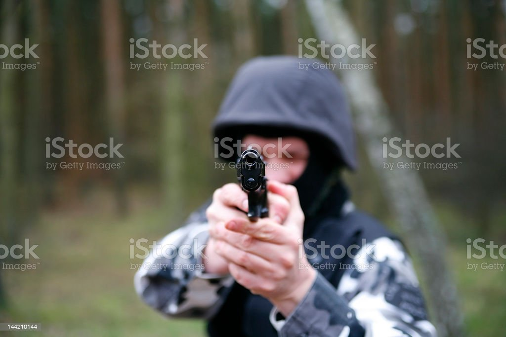 S.W.A.T soldier stock photo