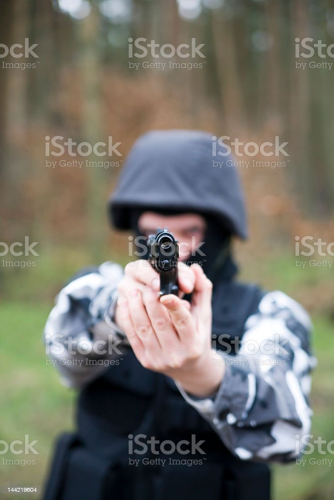S.W.A.T soldier royalty-free stock photo
