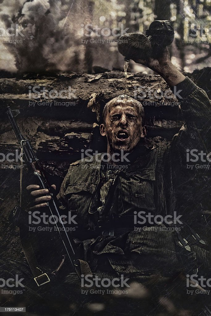 GDR soldier stock photo