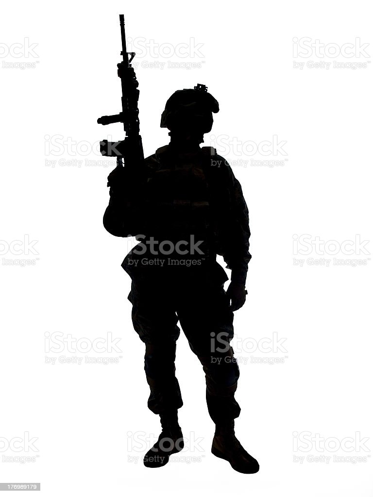 US soldier stock photo