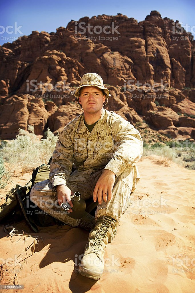 Soldier royalty-free stock photo
