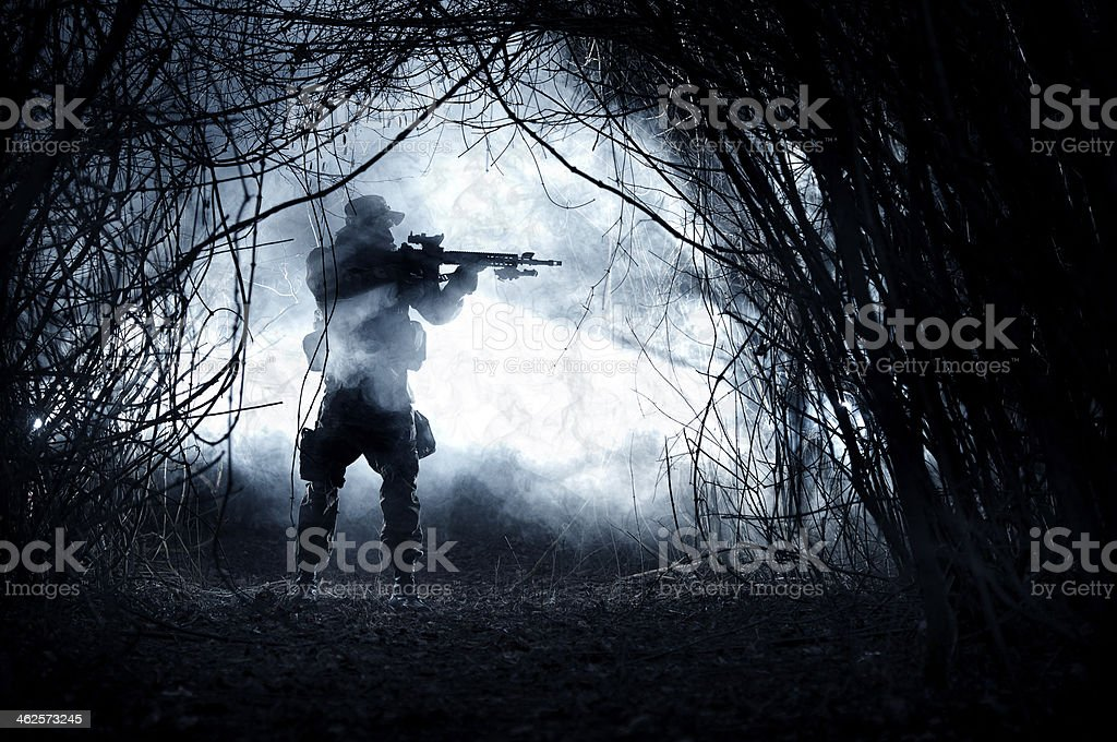 Soldier stock photo
