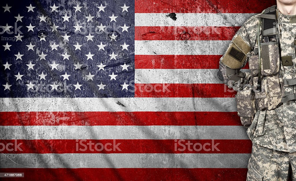 USA soldier stock photo