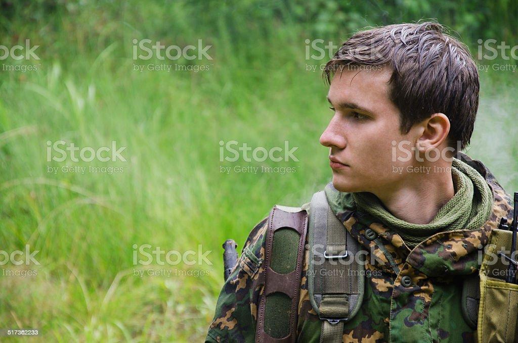 Soldado foto de stock royalty-free