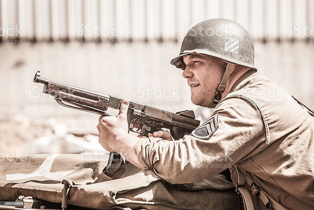 WWII Soldier stock photo