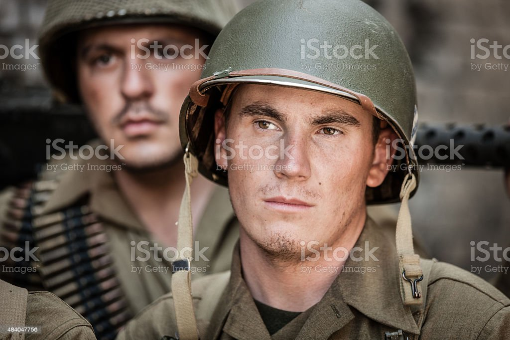 WWII Soldier Portrait stock photo