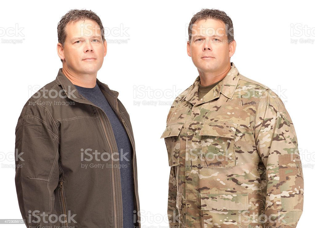 Soldier Retiring From US Military stock photo