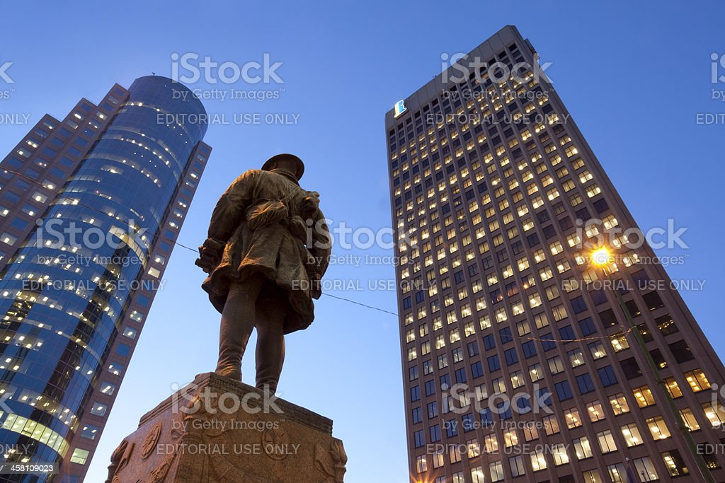 Soldier Standing Guard royalty-free stock photo