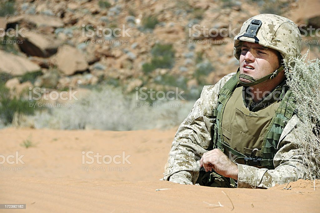 Soldier Surveillance royalty-free stock photo