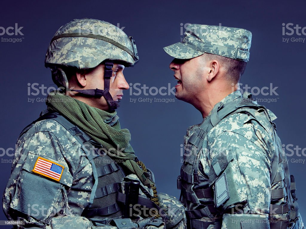Soldier Training stock photo