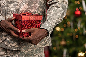 Soldier with Christmas Gift