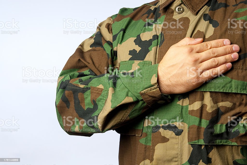 US. Soldier with Clipping Path stock photo